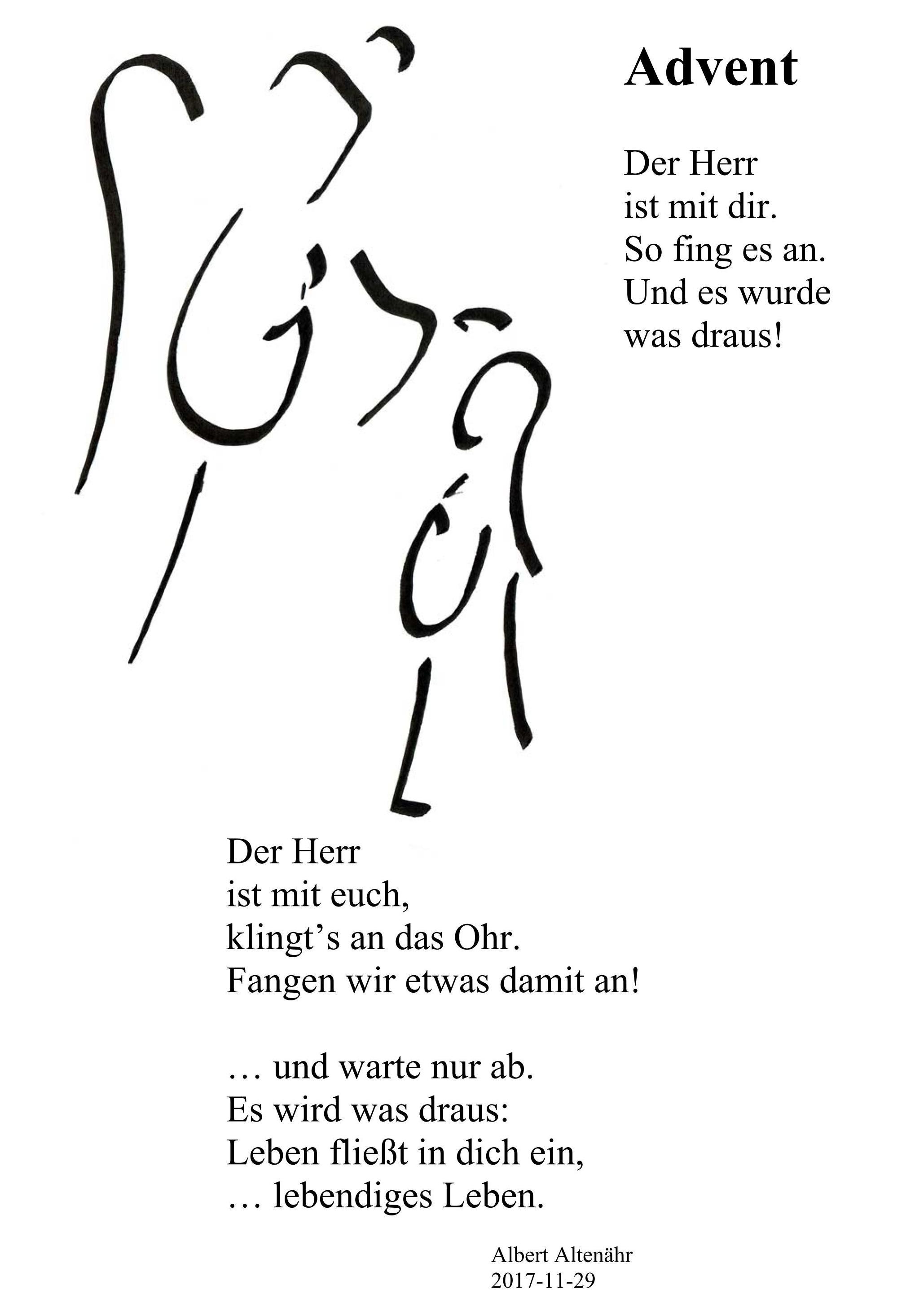 Abtei Kornelimünster Advent Gedicht Impuls