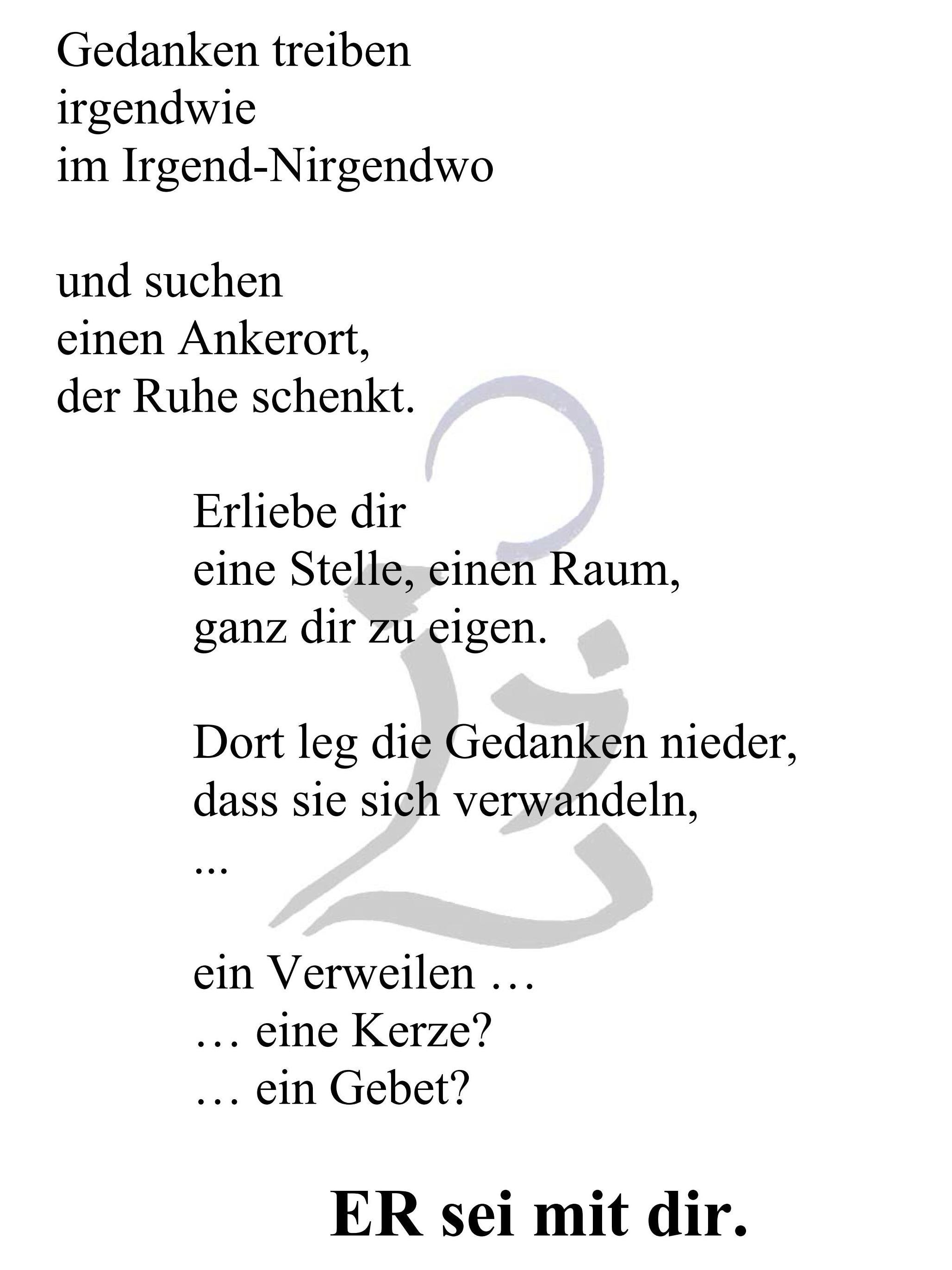 Gedicht die kerze